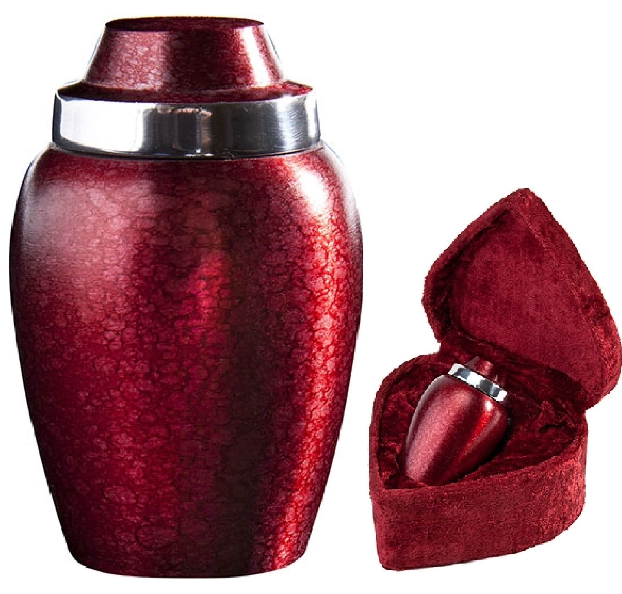 Alloy Burgundy Plum Urn $29-$78