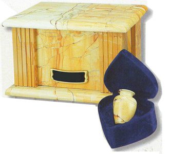 Marble Box Urn Teakwood Grain $59-$156
