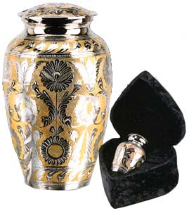 Brass SilverGold Finish Urn $38-$164