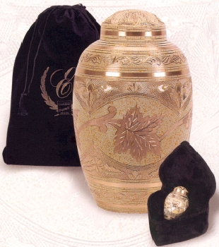 Brass Cream Wash Finish Urn $32-$118