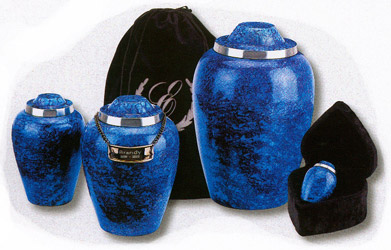 Alloy Cobalt Blue Urn $29-$79