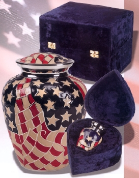 Brass Americana Hand Painted Urn $39-$160