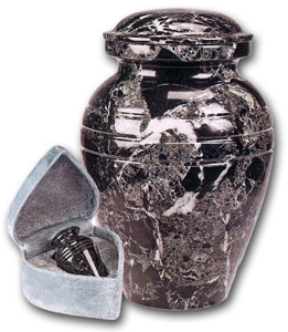 Marble Black Grain Urn $37-$150 - Click Image to Close